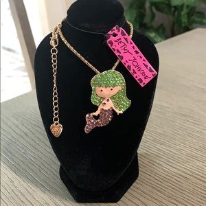 Betsey Johnson Mermaid Pendant Necklace🏵🆕🏵